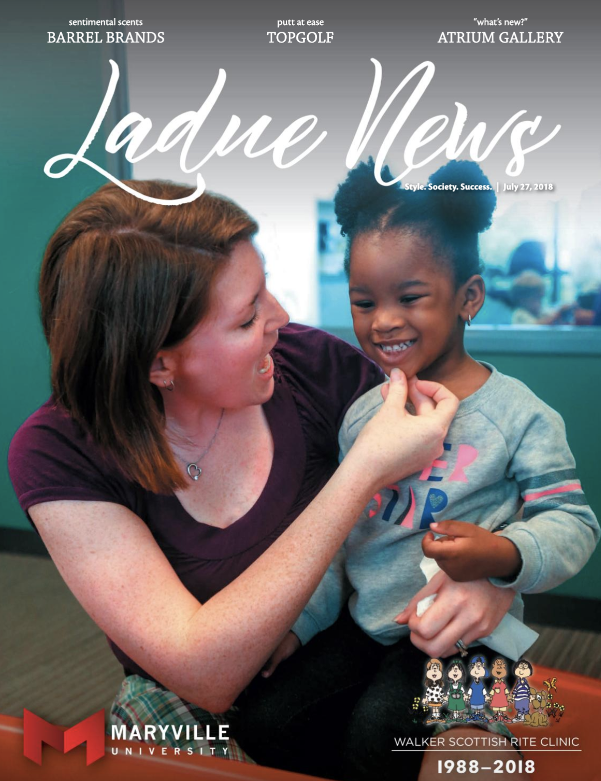 Walker Scottish Rite Clinic featured in Ladue News